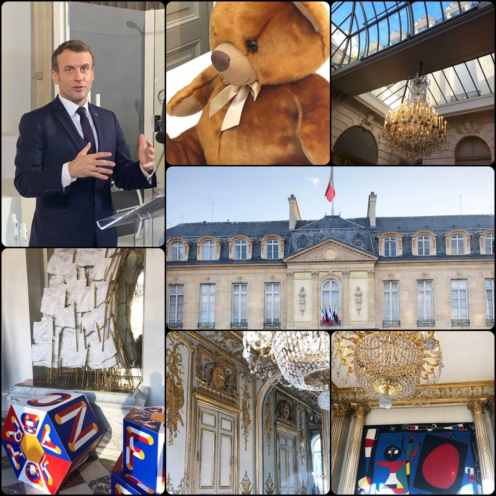 Emmanuel Macron opens Grand Exhibition at Elysée. Fabriqué en France à Présidence de la République par RUNWAY MAGAZINE