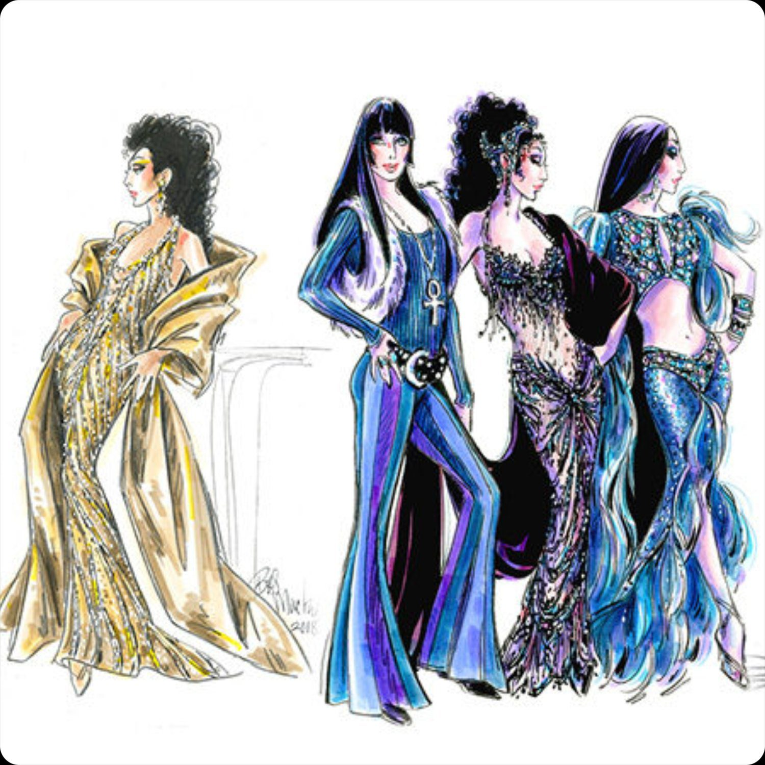 Costumes of Bob Mackie for Cher 2018