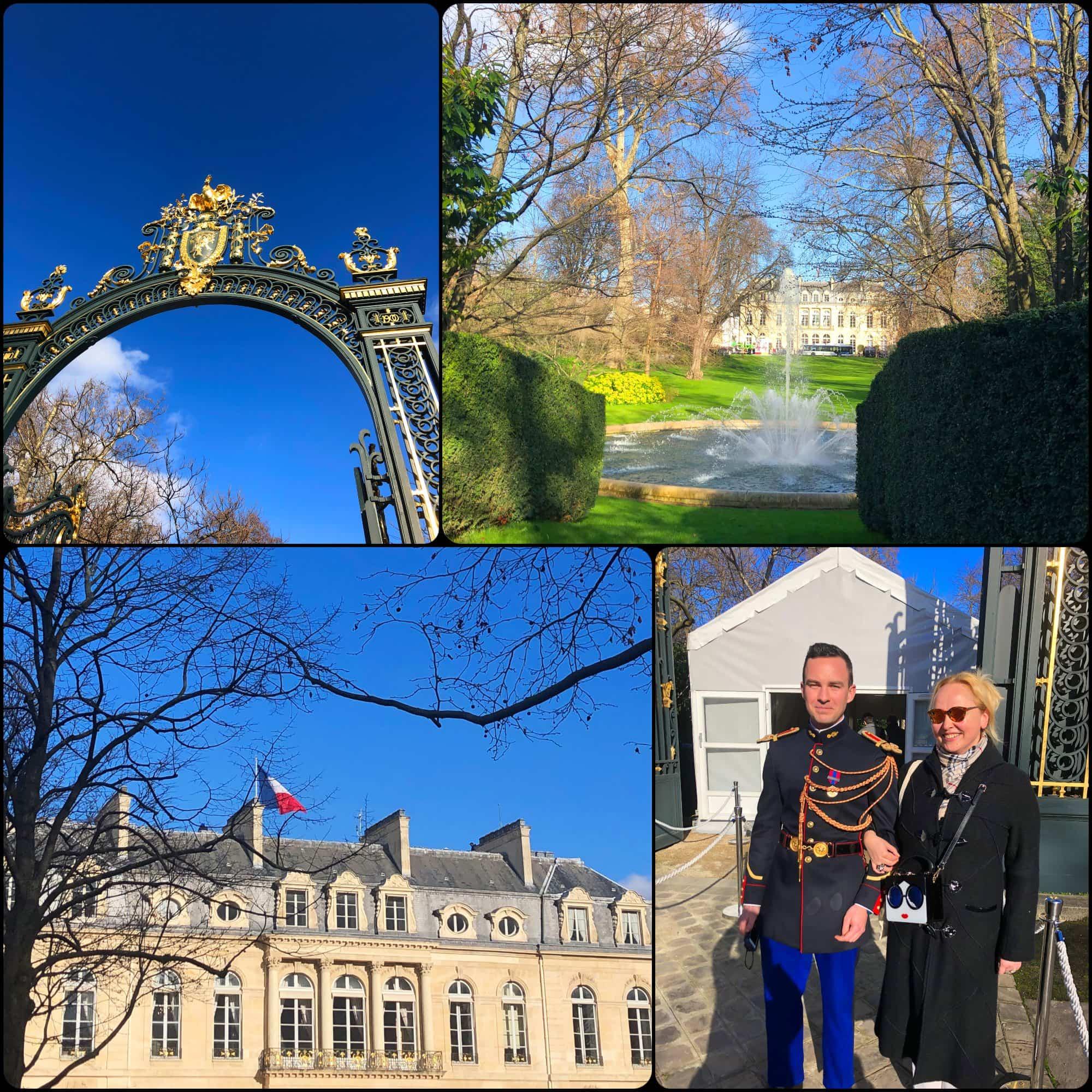 Famous Elysée Garden.  Eleonora de Gray - Editor of RUNWAY MAGAZINE. Fabriqué en France à Présidence de la République par RUNWAY MAGAZINE