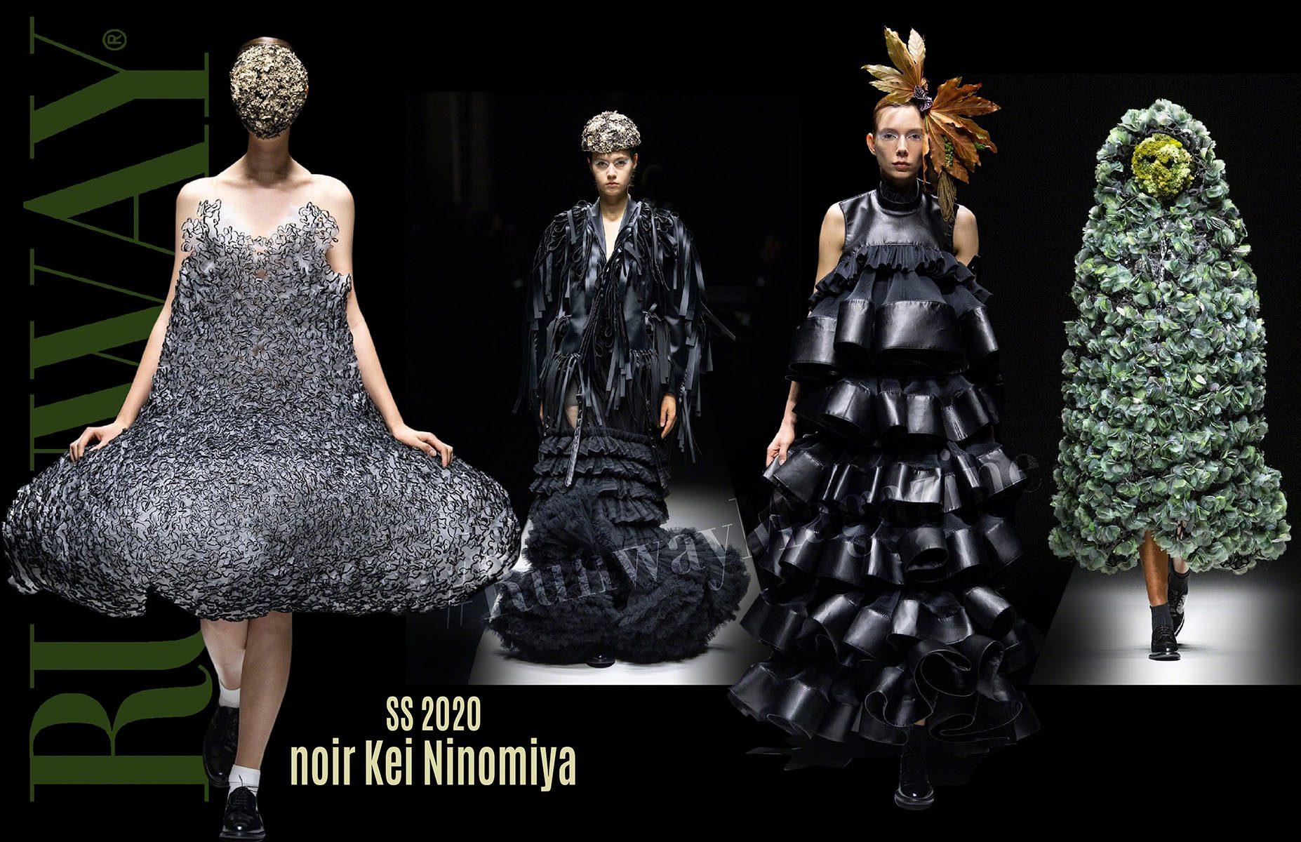 Noir Kei Ninomiya Spring Summer 2020 Paris by RUNWAY MAGAZINE