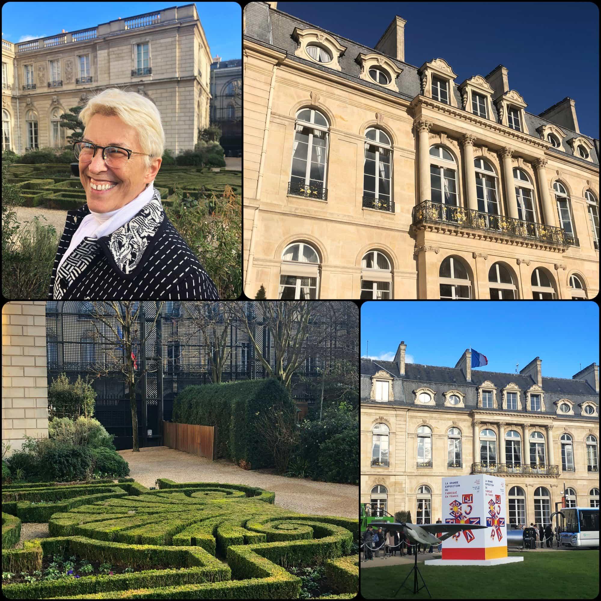 Guillaumette Duplaix at the Gardens of Elysée. Fabriqué en France à Présidence de la République par RUNWAY MAGAZINE