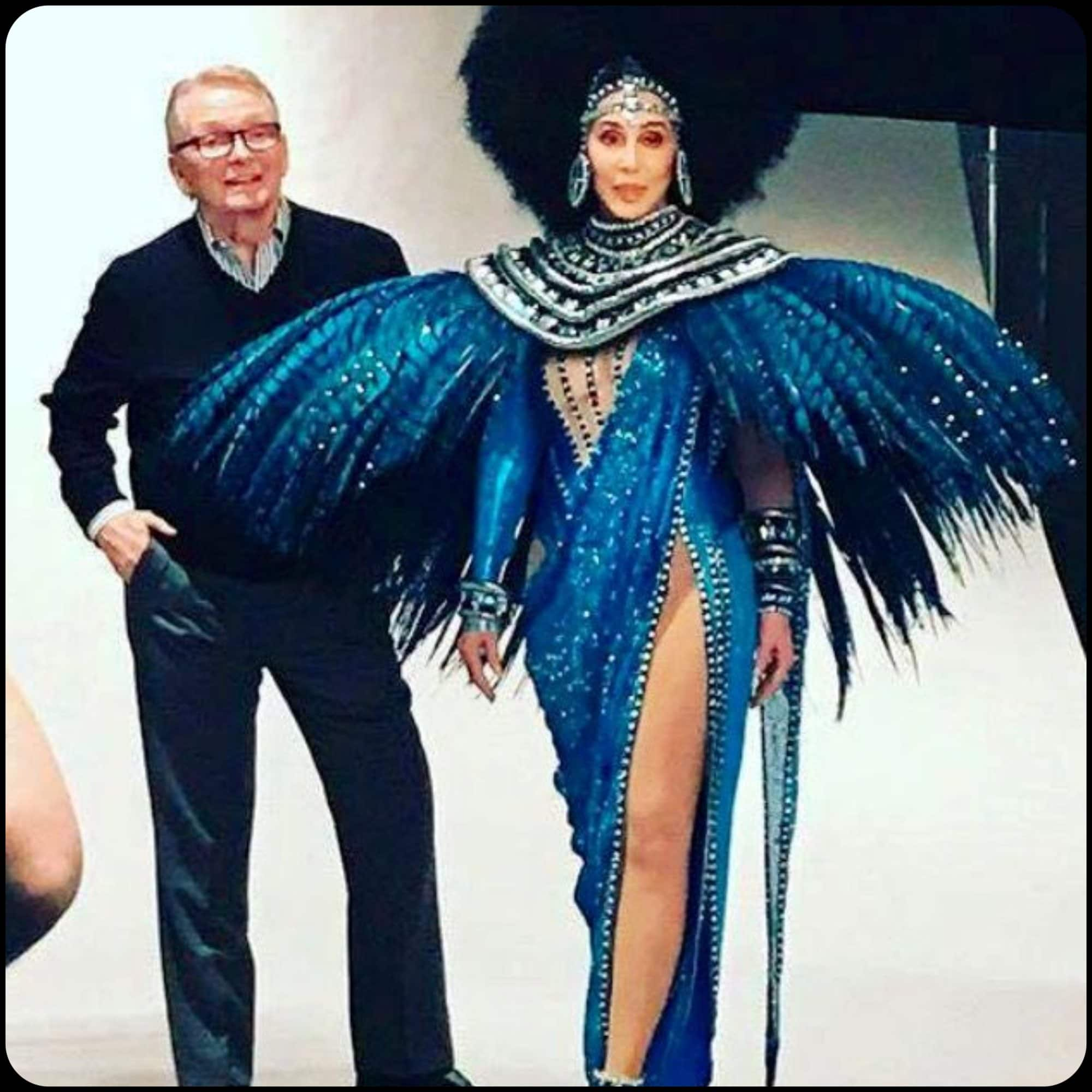 Bob Mackie and Cher