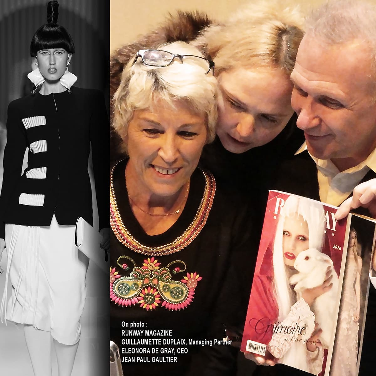 Jean Paul Gaultier and Editors of RUNWAY MAGAZINE