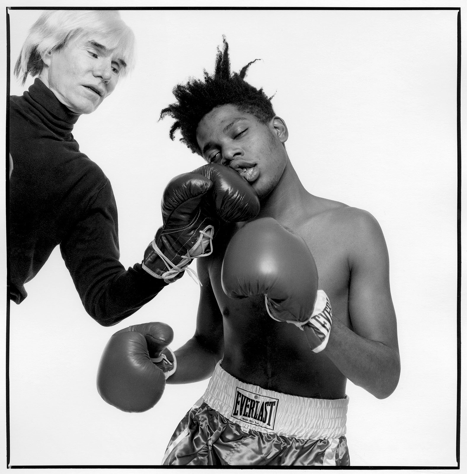 Andy Warhol and Jean Michel Basquiat - Saint Laurent Everlast by RUNWAY MAGAZINE - Photo (C) MICHAEL HALSBAND