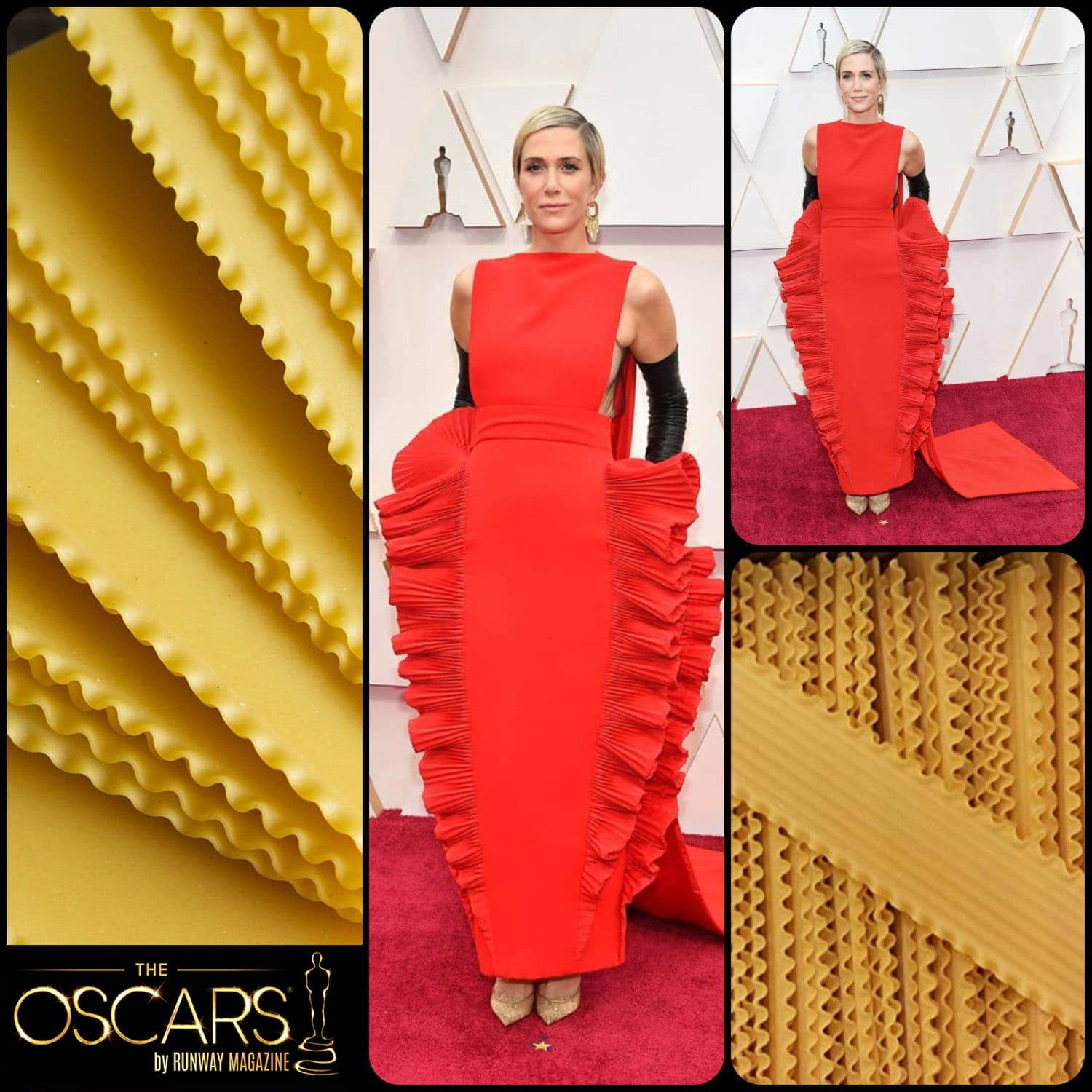 Kristen Wiig in Lasagna Valentino Haute Couture dress at the 2020 Oscars by RUNWAY MAGAZINE