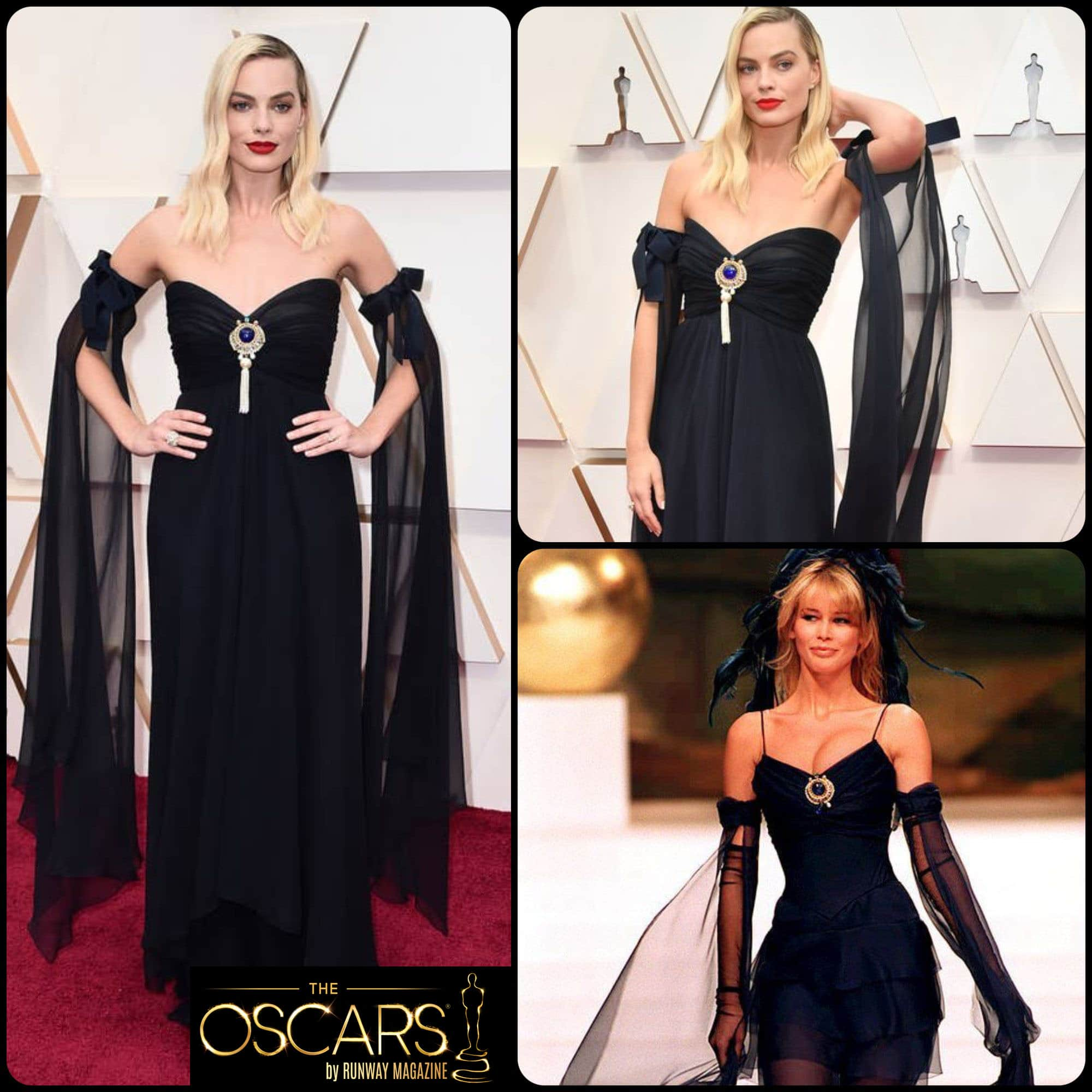Margot Robbie in CHANEL Haute Couture Spring-Summer 1994 at the 2020 Oscars by RUNWAY MAGAZINE