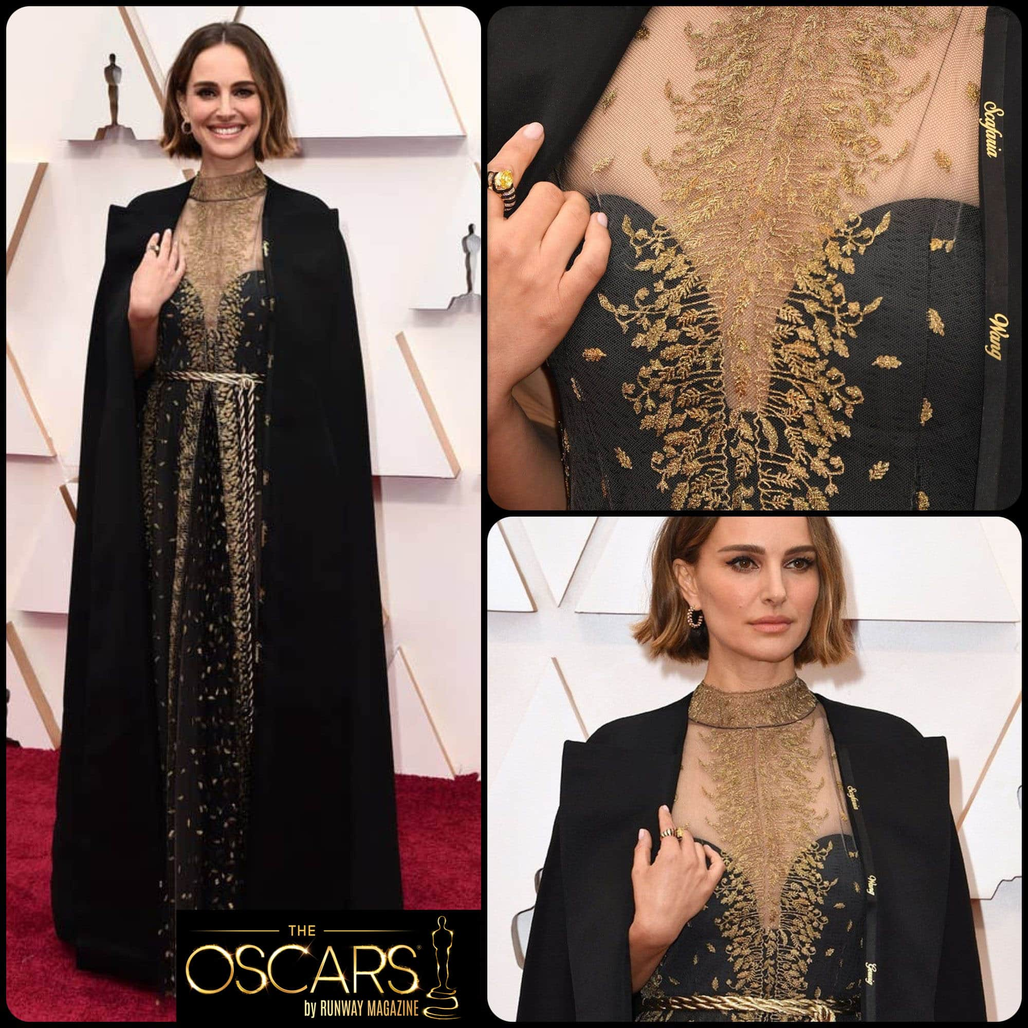 Natalie Portman in DIOR Haute Couture custom dress at the 2020 Oscars by RUNWAY MAGAZINE