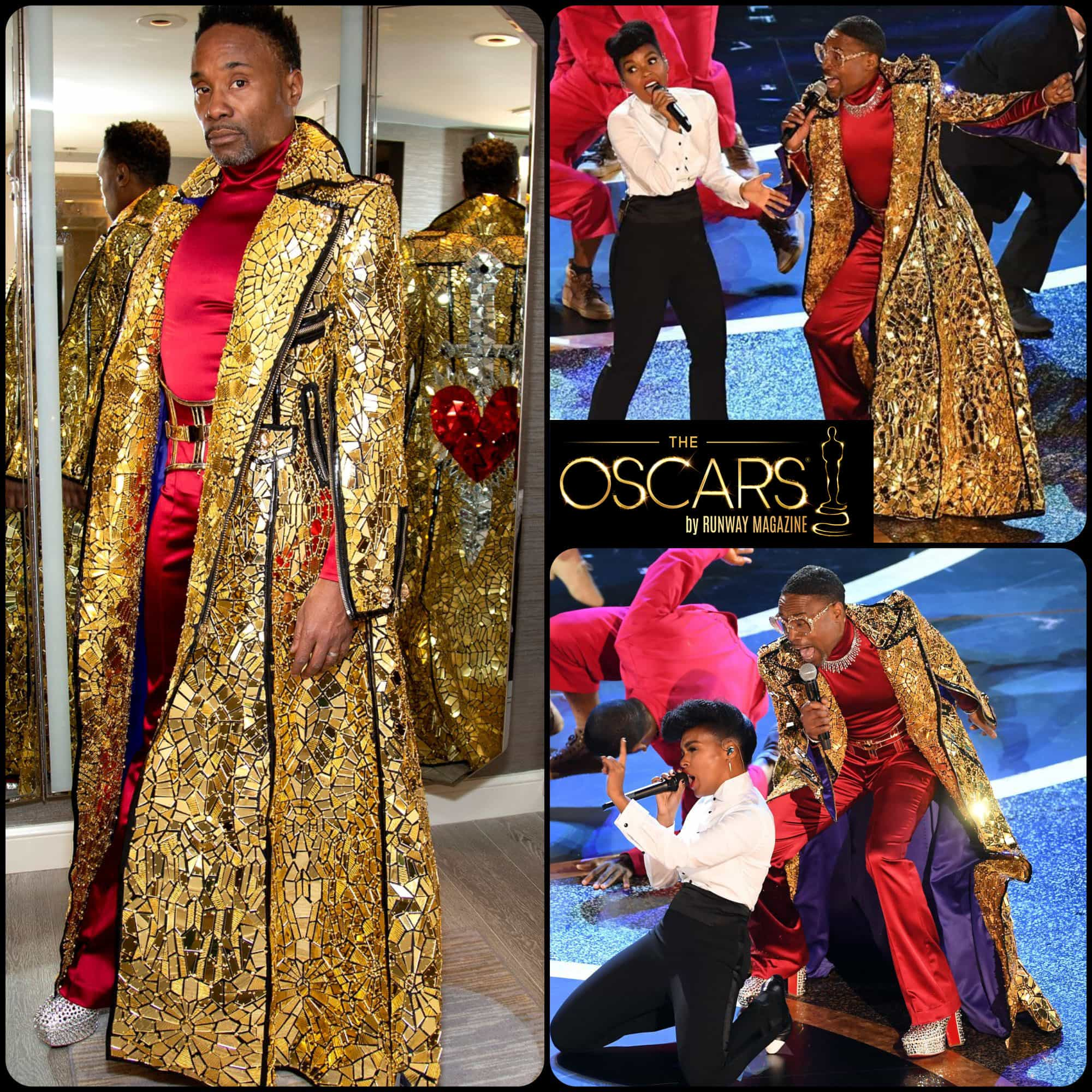 Oscars 2020 Billy Porter, golden coat by THE BLONDS by RUNWAY MAGAZINE