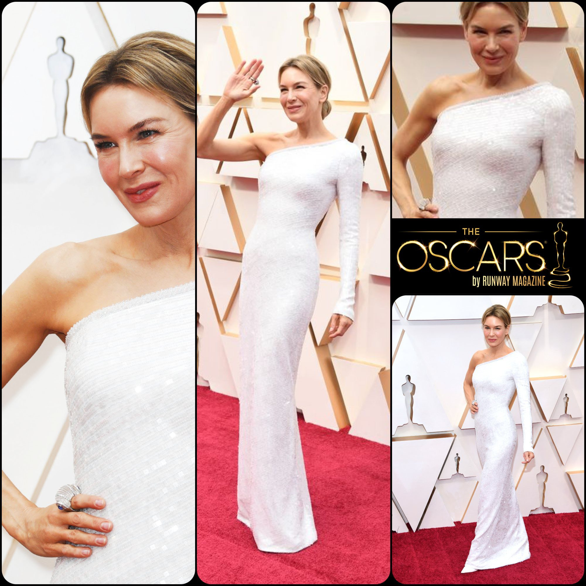 Renee Zellweger in Armani Privé at the 2020 Oscars by RUNWAY MAGAZINE