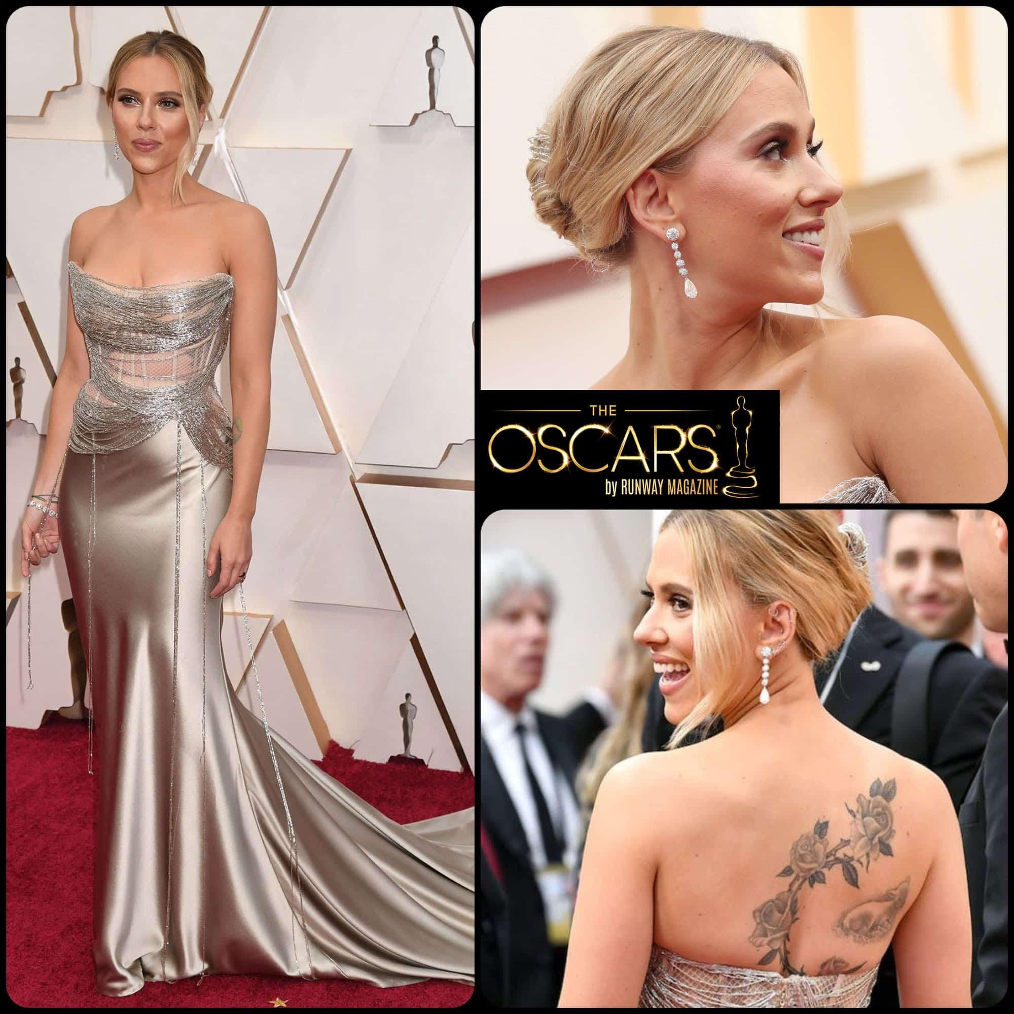 Scarlett Johansson in Oscar de la Renta at the 2020 Oscars by RUNWAY MAGAZINE