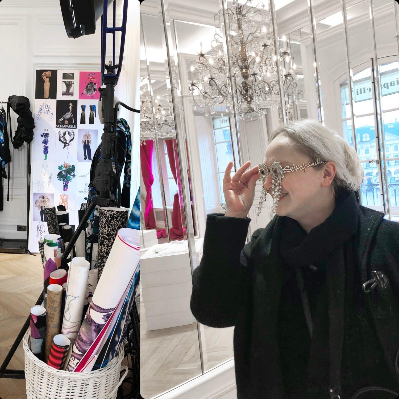 Eleonora de Gray at presentation of Schiaparelli Fall-Winter 2020-2021 Paris by RUNWAY MAGAZINE