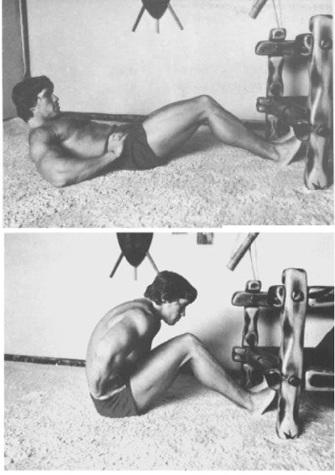 Arnold Schwarzenegger - exercise at home by RUNWAY MAGAZINE