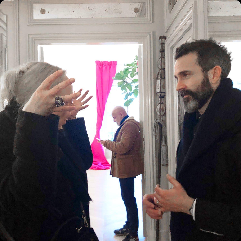 Eleonora de Gray and Daniel Roseberry, artistic director of Schiaparelli Fall-Winter 2020-2021 Paris by RUNWAY MAGAZINE