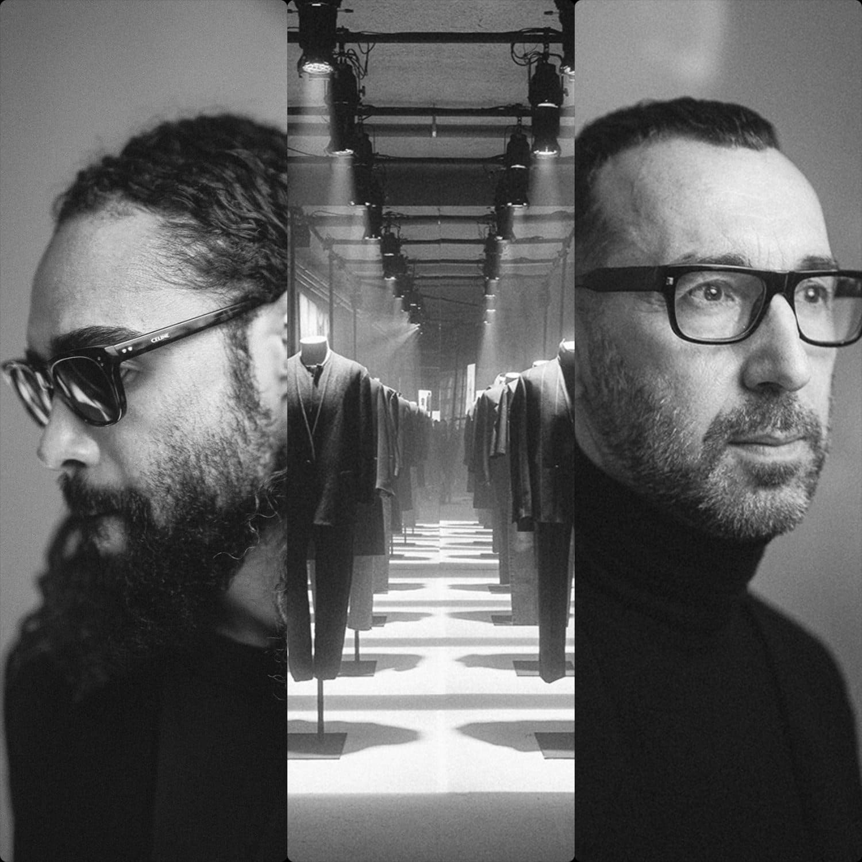 lessandro Sartori, artistic director of Ermenegildo Zegna, and Jerry Lorenzo, founder of Fear of God. Ermenegildo Zegna and Fear of God Fall-Winter 2020-2021 Paris by RUNWAY MAGAZINE