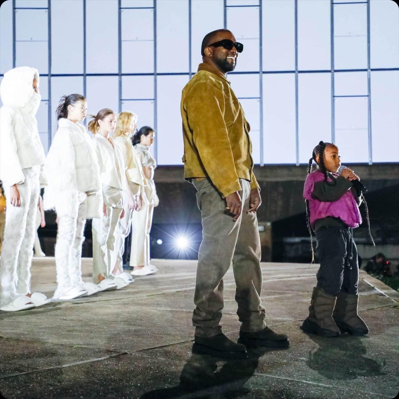 Kanye West at Yeezy presentation during Paris Fashion Week by RUNWAY MAGAZINE
