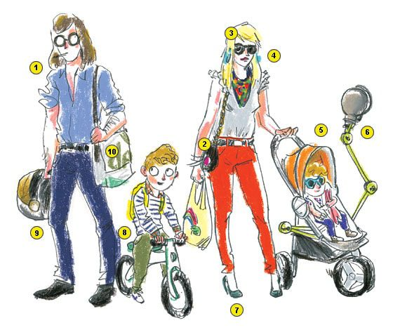 Parisian Bobo style  by New York Mag - Illustration by Damien Florébert Cuypers