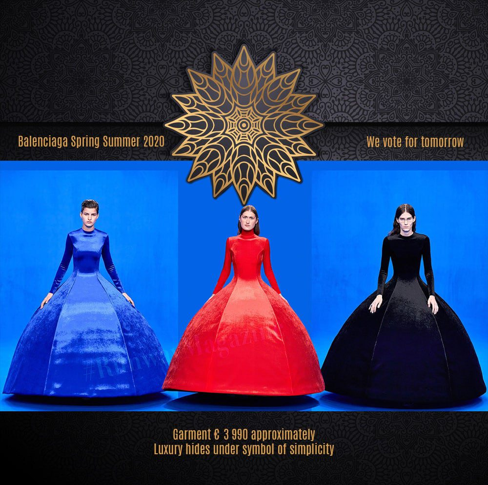 Balenciaga Spring Summer 2020 collection - luxury and simplicity