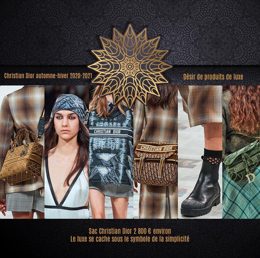 Christian Dior automne-hiver 2020-2021 - luxe et simplicite