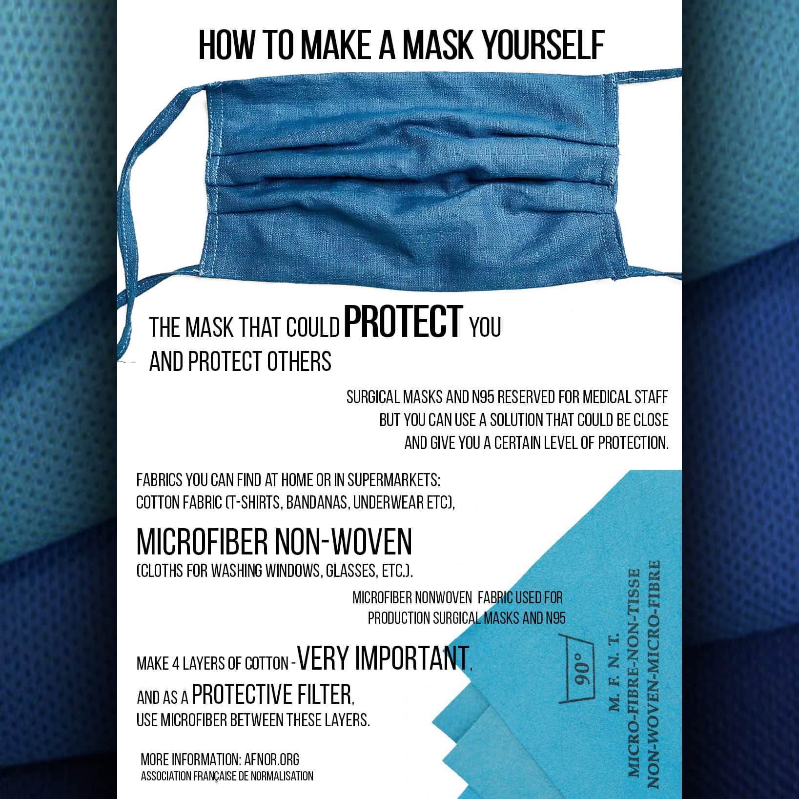 Simple guide for making at home PROTECTIVE FACE MASK