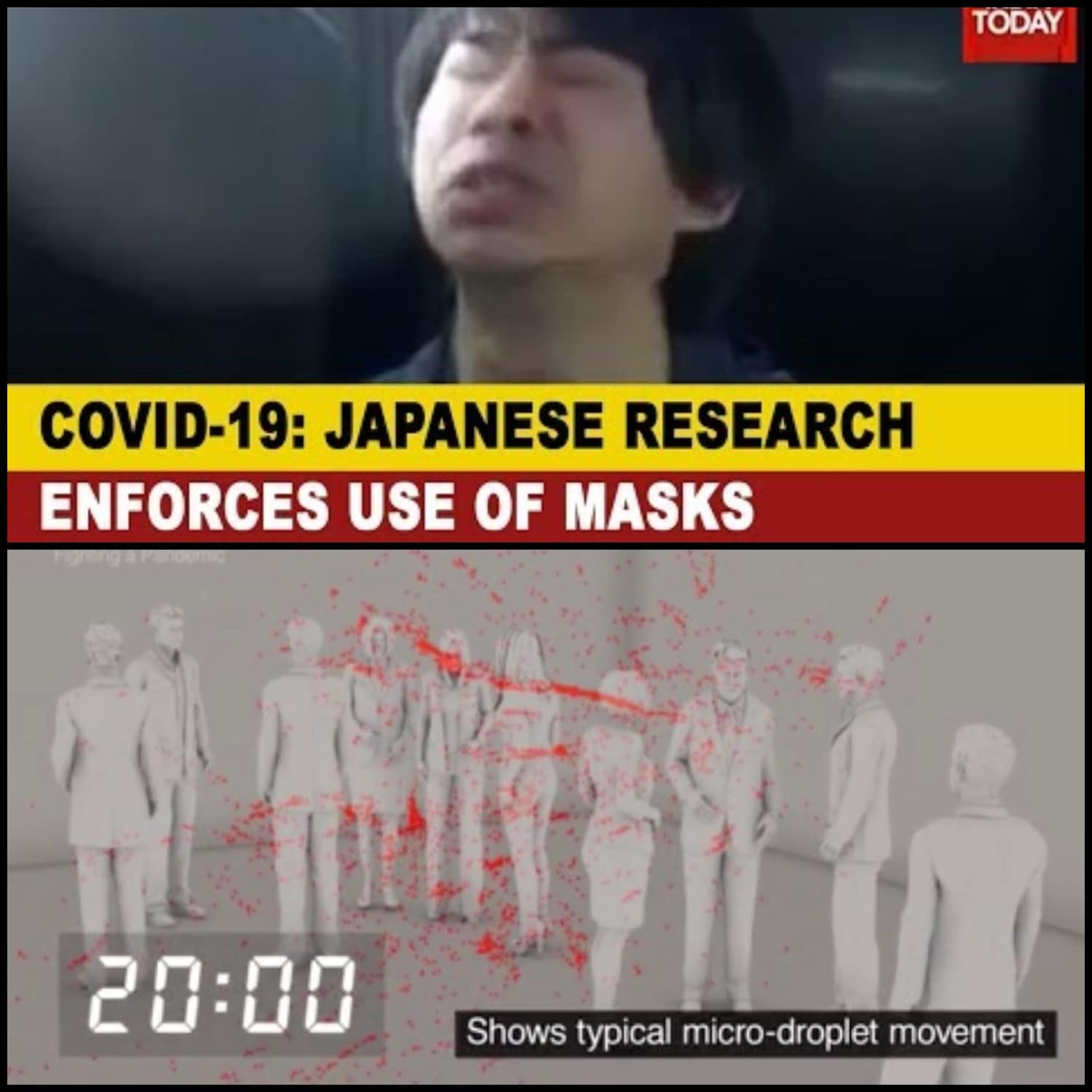 Japanese research about spreading the coronavirus