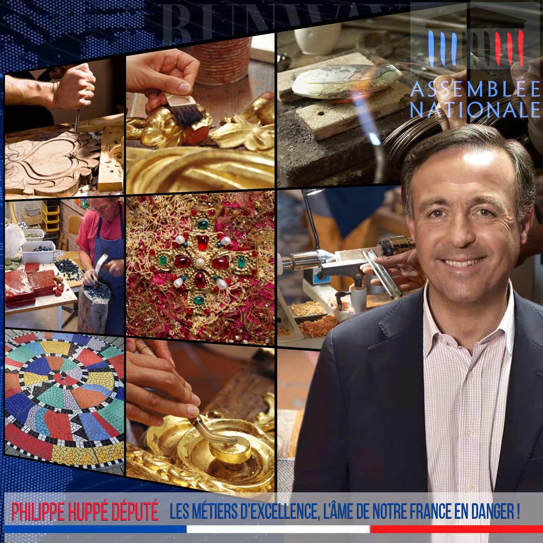Philippe Huppe - Les métiers d'excellence, l'âme de notre France en danger ! - Assemblee Nationale May 2020