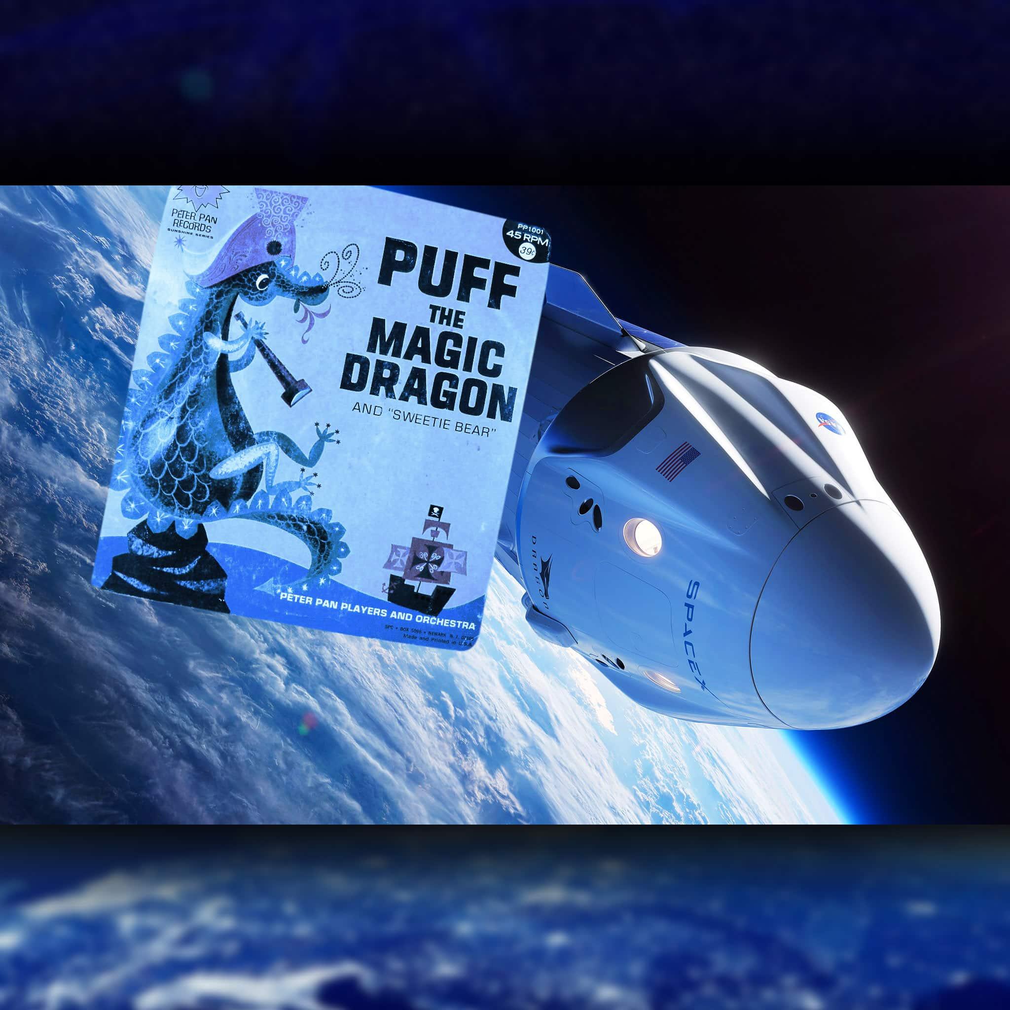 Crew Dragon DM-1 SpaceX-2 - Puff the Magic Dragon