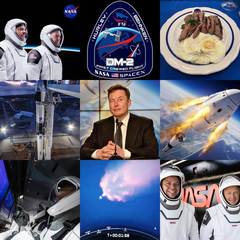 SpaceX Launch - CEO Elon Musk - astronauts Bob Behnken and Doug Hurley - NASA