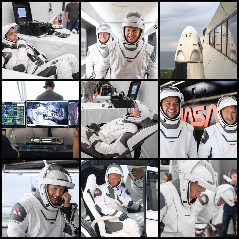 SpaceX Launch - astronauts Bob Behnken and Doug Hurley - NASA