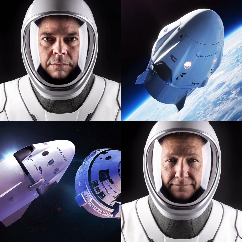SpaceX Launch - astronauts Bob Behnken and Doug Hurley