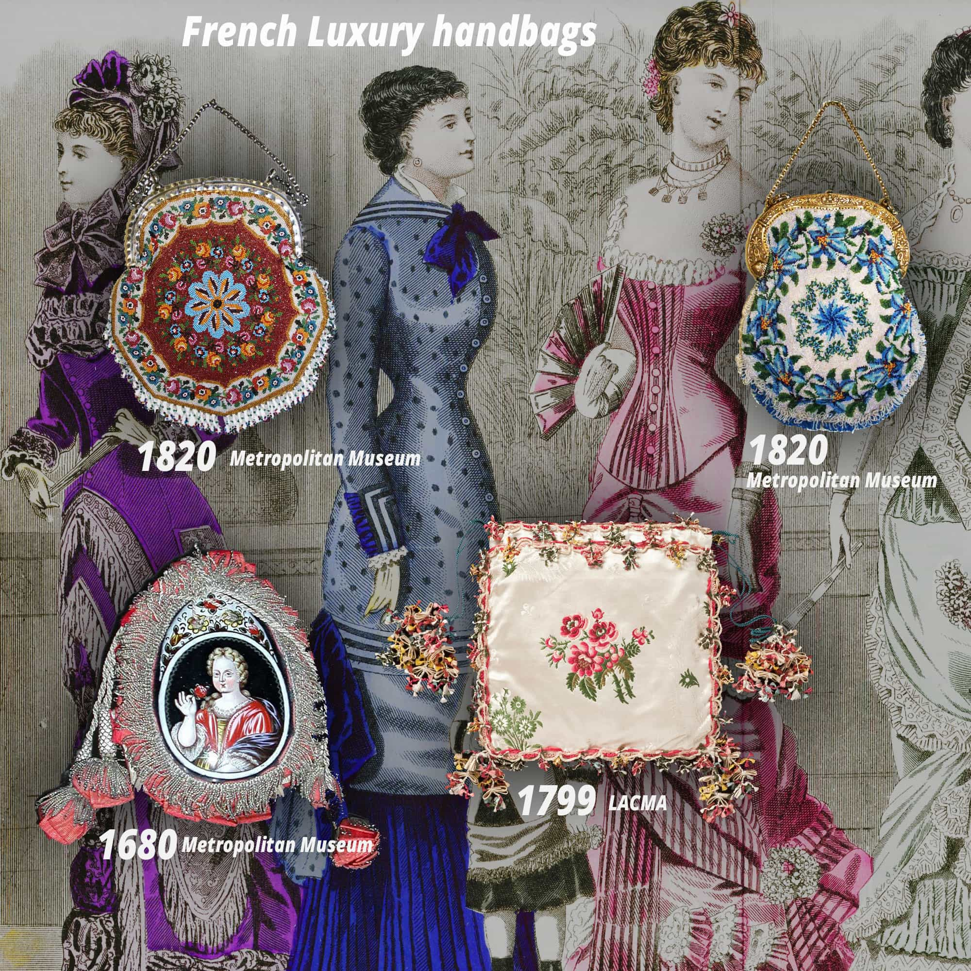 History of handbag - INPI treasures - French handbags from 1680-1820 - Metropolitan Museum