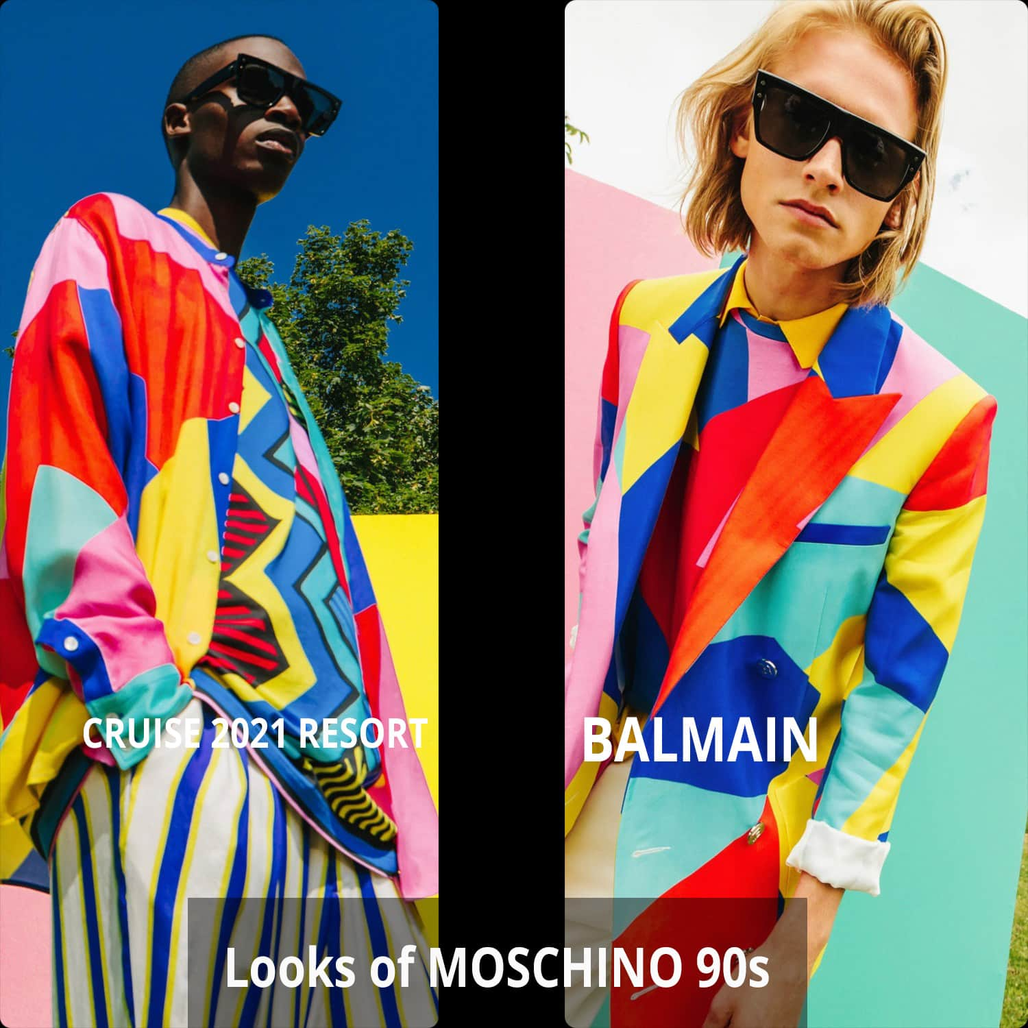 Balmain Cruise 2021 Resort vs MOSCHINO 90s