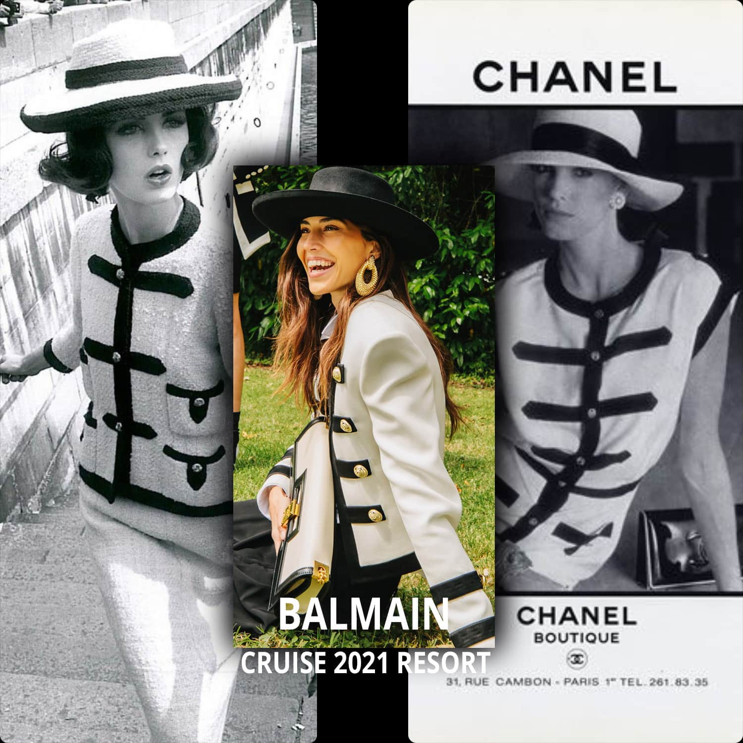 Balmain Cruise 2021 vs CHANEL classic