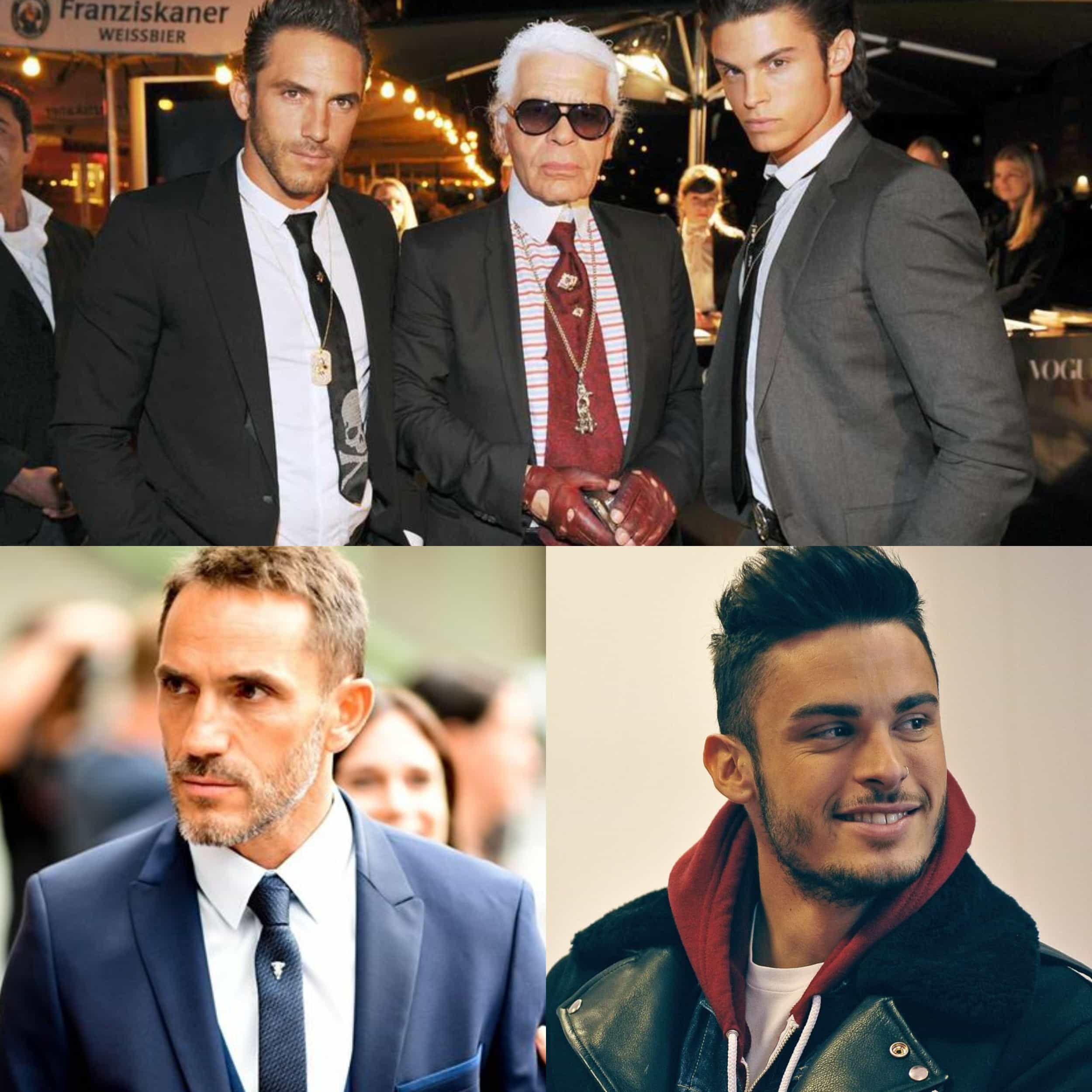 Baptiste Giabiconi and Sébastien Jondeau - in fight for Karl Lagerfeld fortune