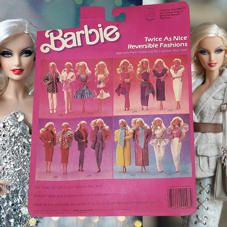 Barbie doll trough generations