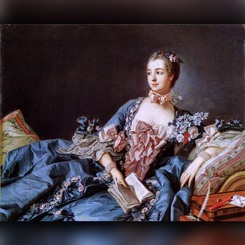 François Boucher – Marquise de Pompadour – 1756