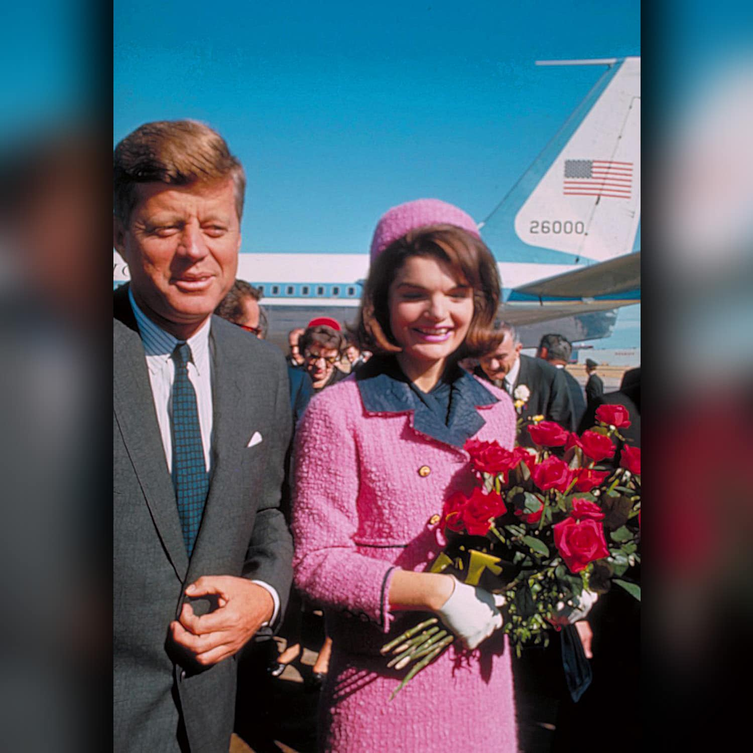 Jackie Kennedy in Pink CHANEL Suit CHANEL in Dallas. The whole post-war generation was growing up with this typecast