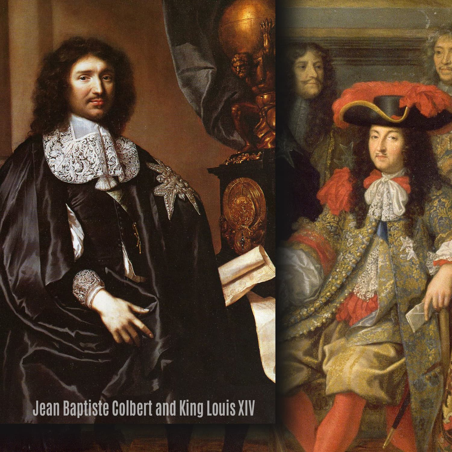 Jean Baptiste Colbert and King Louis XIV