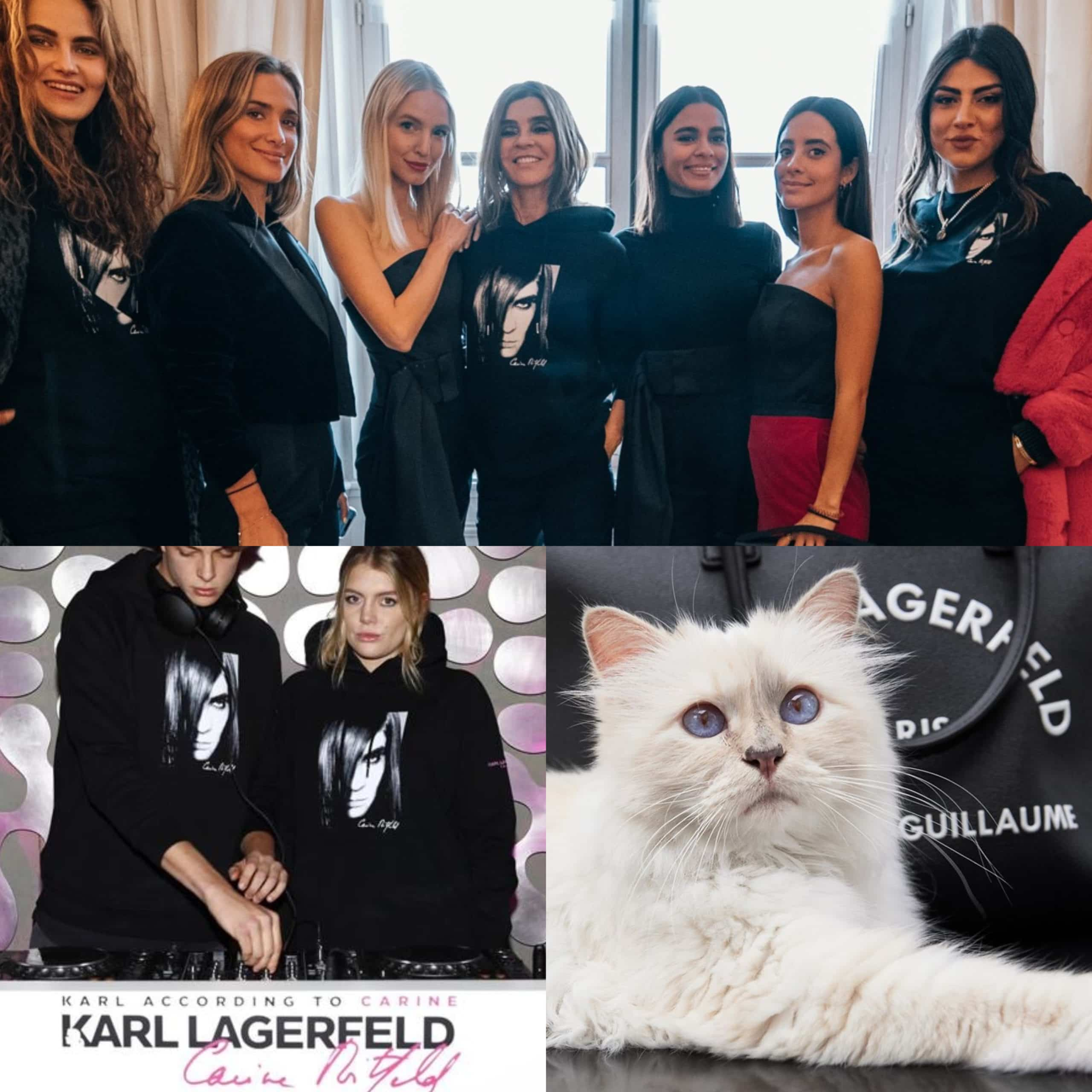 Karl Lagerfeld according to Carine Roitfeld