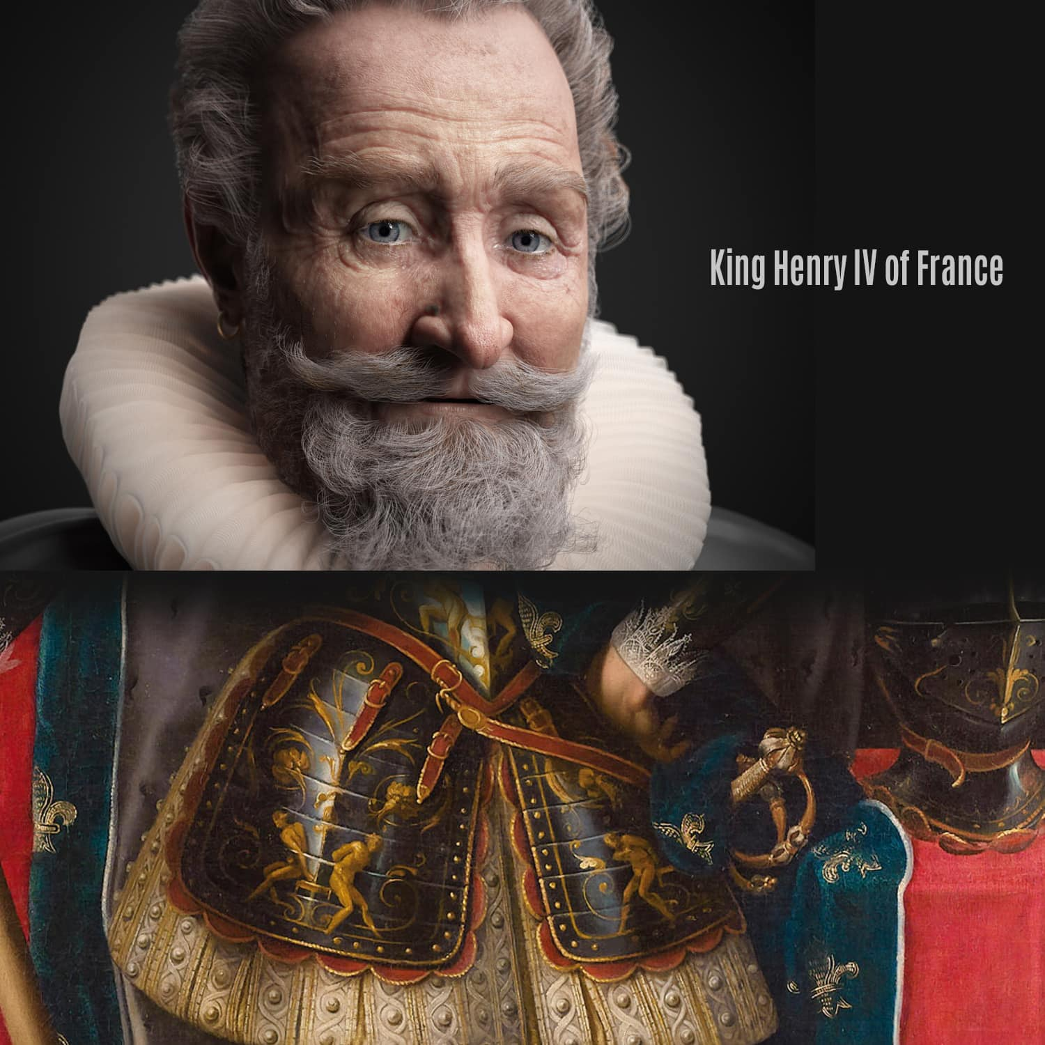King Henry IV of France - forensic facial reconstructions 3D by VISUALFORENSIC