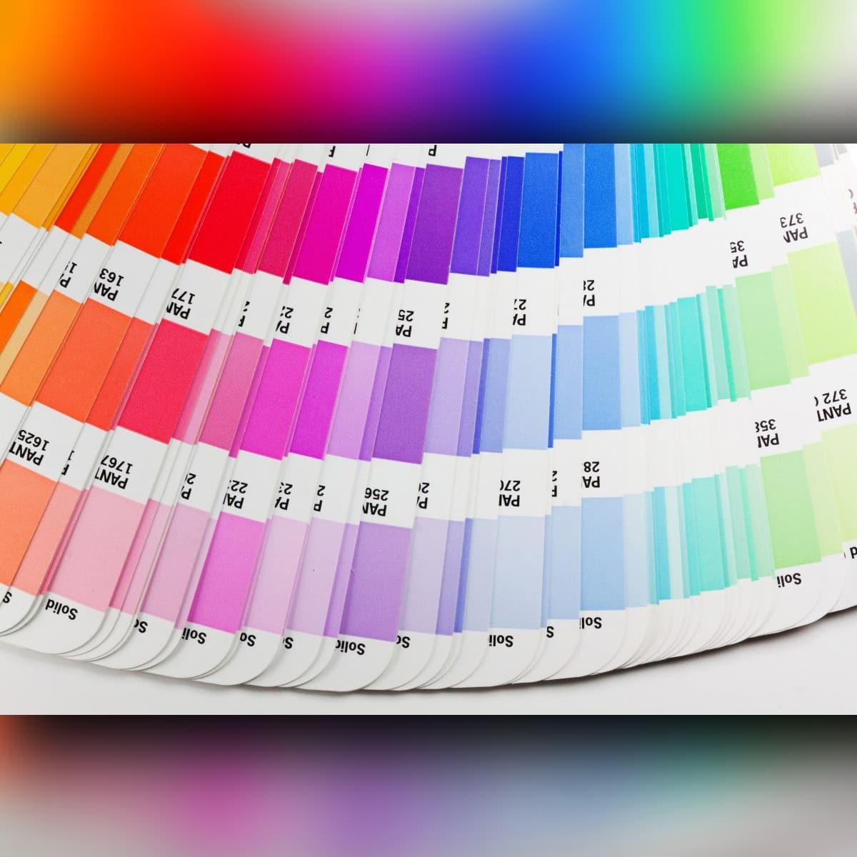 Pantone PINK color chart