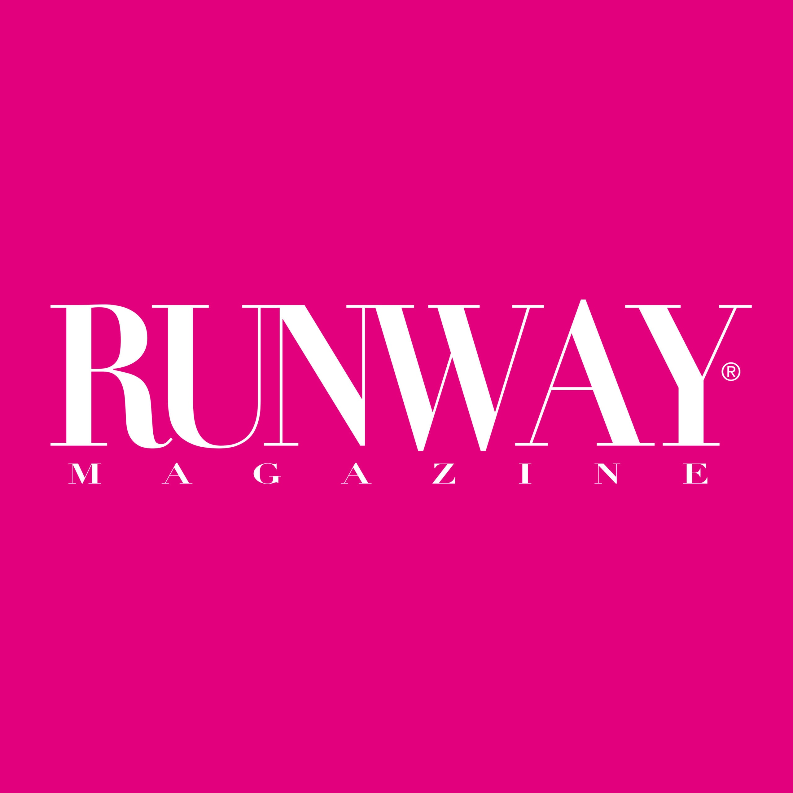 RUNWAY MAGAZINE logo - pink