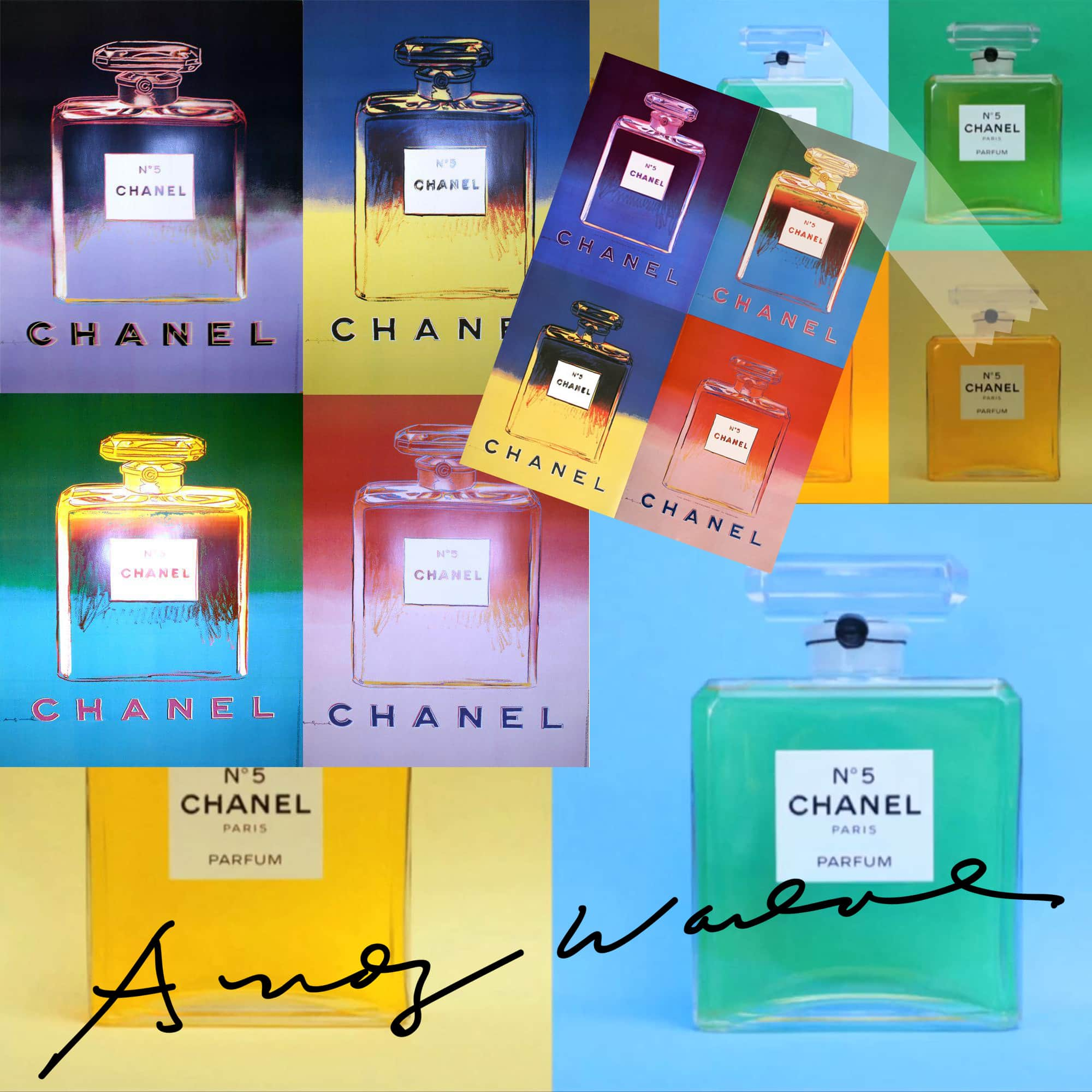CHANEL 5 perfume - Tresors INPI - Andy Warhol for CHANEL by RUNWAY MAGAZINE