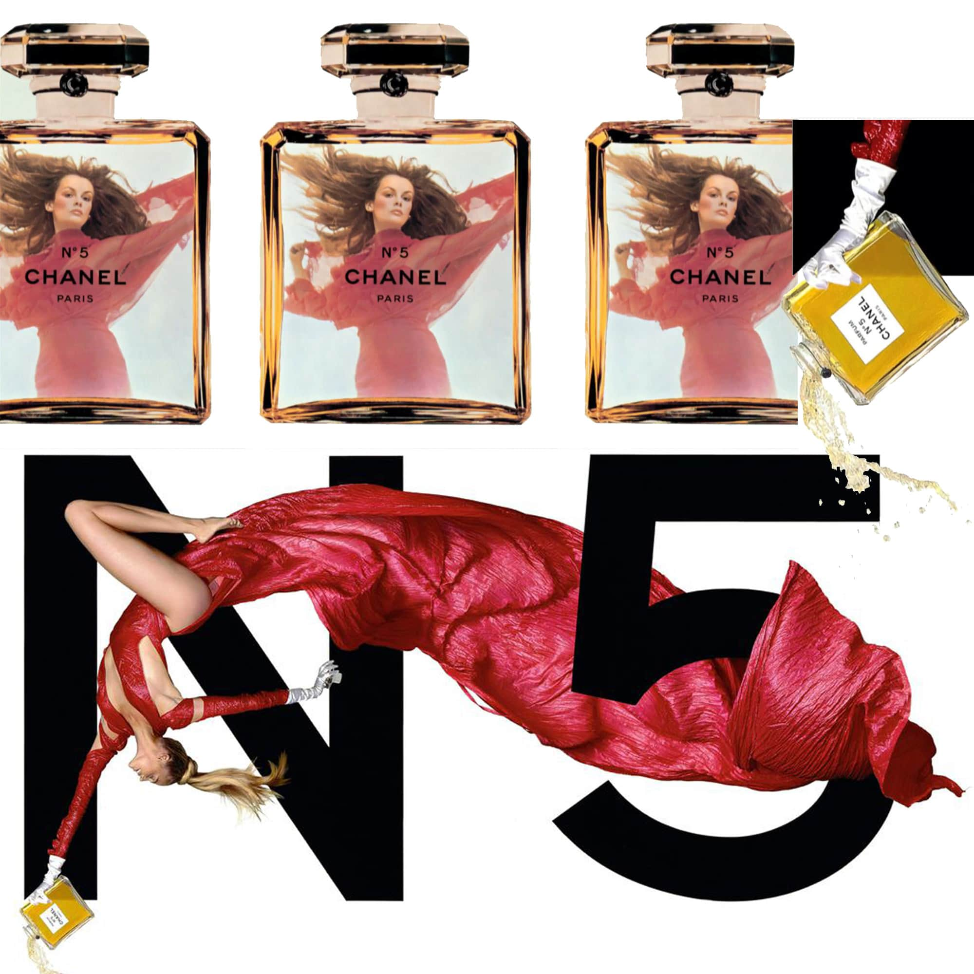 CHANEL 5 perfume - Tresors INPI - Jean-Paul Goude for CHANEL by RUNWAY MAGAZINE