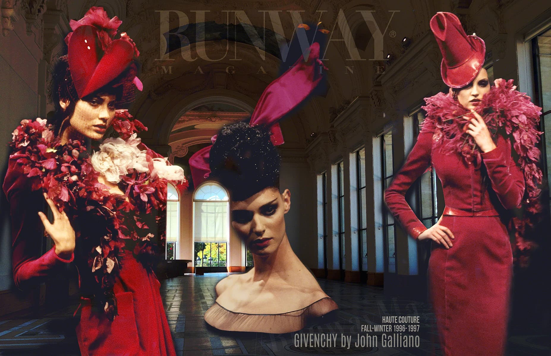 GIVENCHY by JOHN GALLIANO Fall-Winter 1996-1997 Paris by RUNWAY MAGAZINE