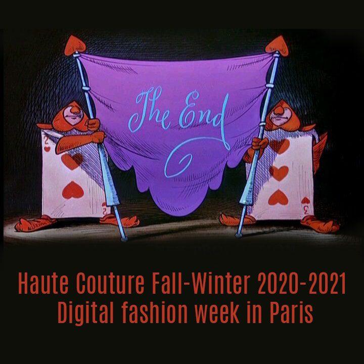 Haute Couture Fall-Winter 2020-2021 Digital fashion week in Paris