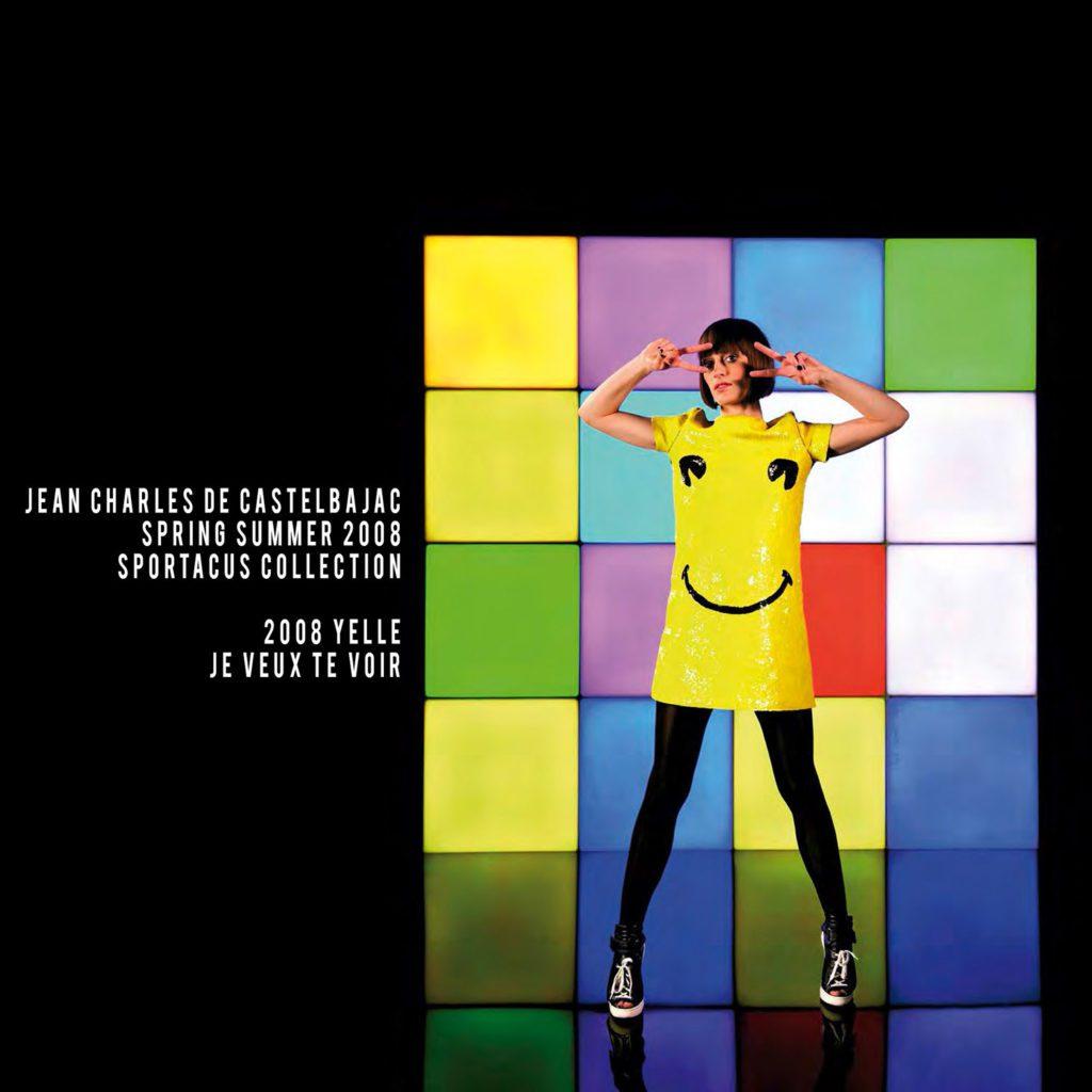 JC de Castelbajac-Summer 2008-Yelle video clip-je veux te voir-smiley dress-sportacus collection