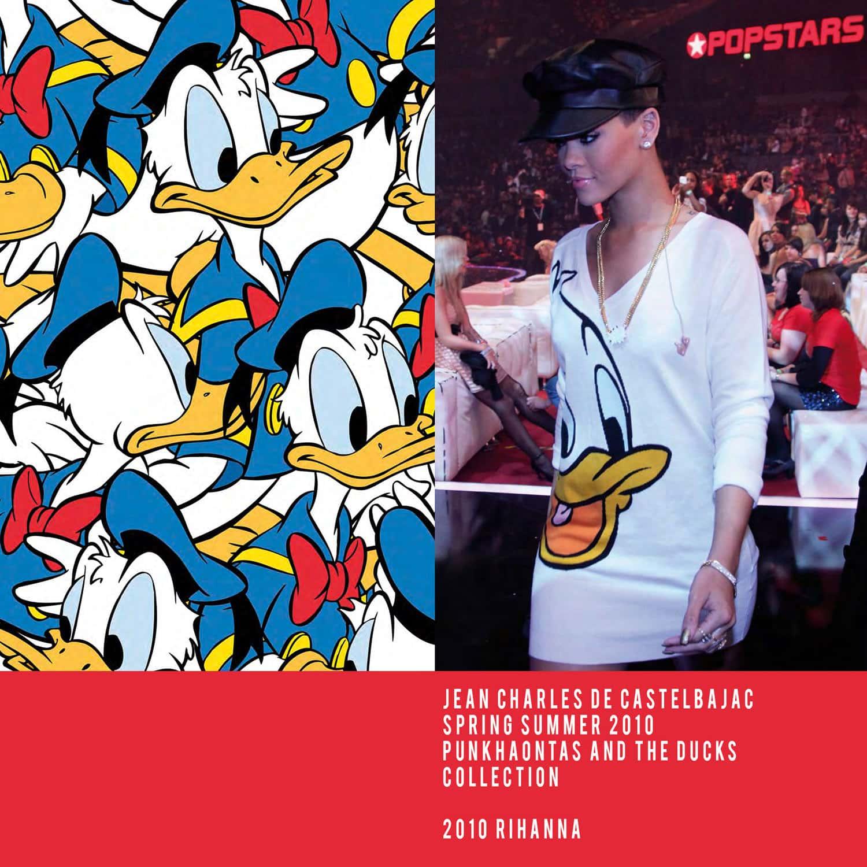 JC de Castelbajac-Summer 2010-Punkhaontas and the Ducks Collection-Rihanna