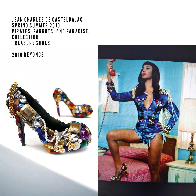 JC de Castelbajac-Summer 2010-Treasure shoes-Pirates Parrots and Pradise Collection-Beyonce