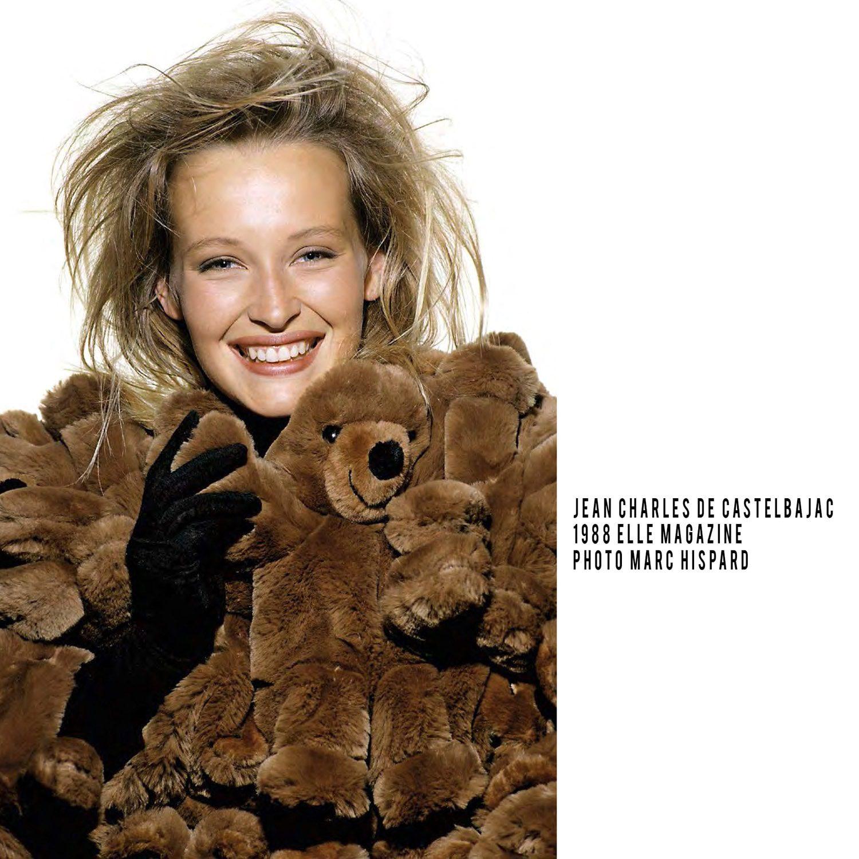 JC de Castelbajac-Teddy-Bear-Coat-1998-Estelle Lefebure-ELLE cover-Photo-Marc-Hispard