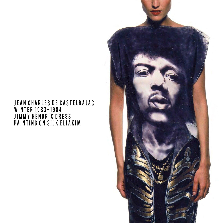 JC de Castelbajac-Winter-1983-1984-Jimmy Hendrix dress-painter Eliakim